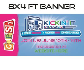 Picture of GoFish Kickin It Banner 8x4